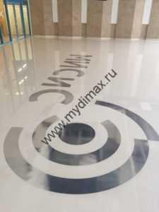 полимерный пол с логотипом
