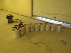эпоксидный полимерный пол в гараже