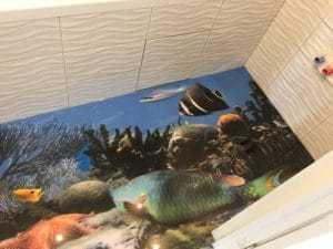 3д полы рыбки